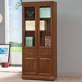 【水晶晶家具/傢俱首選】CX1466-3 樟木皇家3×6尺中抽書櫥