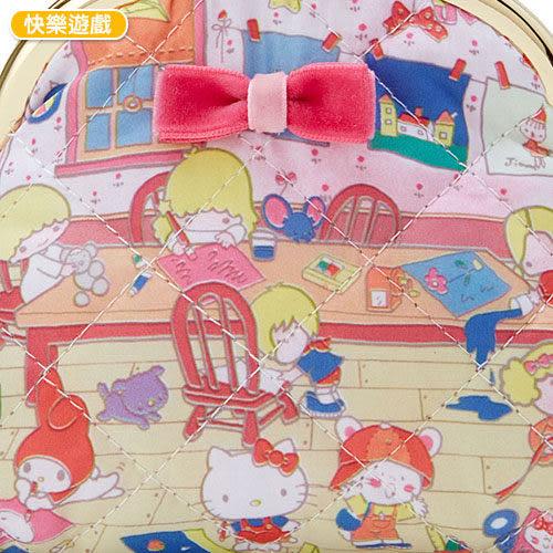 【震撼精品百貨】Hello Kitty 凱蒂貓~SANRIO繽紛包裝紙第二彈珠扣式零錢包(快樂遊戲)