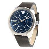 DIESEL | DZ1787 懷舊皮革藍面腕錶  46mm