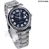 TIVOLINA 標準時刻 都會紳士 數字錶 男錶 放大日期顯示窗 黑色 MAW3750KA
