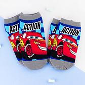迪士尼汽車總動員系列直版童襪 閃電麥坤 短筒襪 短襪 童襪 卡通印花襪