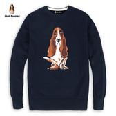 Hush Puppies 線衫 男裝狗圖騰緹花針織線衫