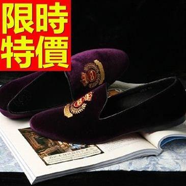 男皮鞋-造型穿脫方便休閒懶人男樂福鞋1色59p16[巴黎精品]