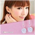 甜美宣言 經典設計款大圓鑽耳環 925純...