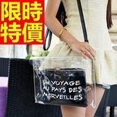 透明手提包-迷人可肩背防水女果凍包4色57a41【巴黎精品】
