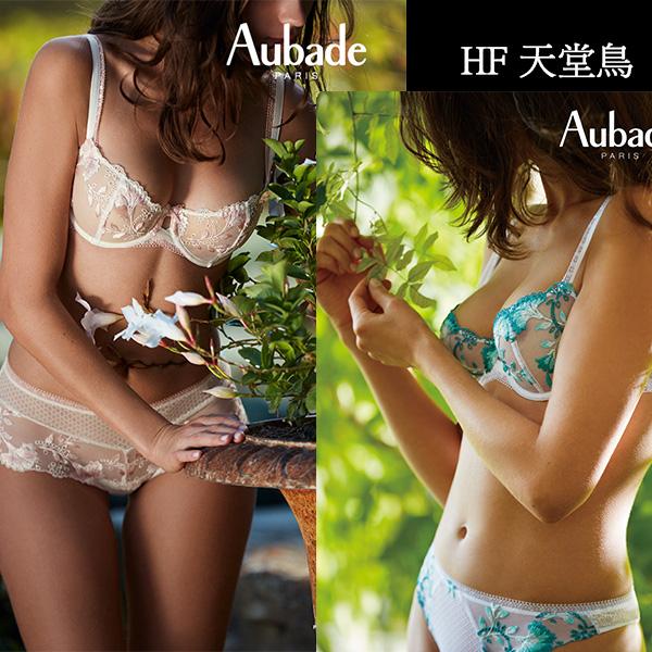 Aubade-天堂鳥B-D蕾絲刺繡有襯內衣(藍白)HF