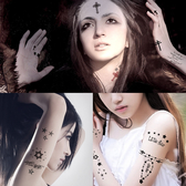 10片套裝紋身貼 男女防水紋身貼紙個性時尚仿真刺青貼身體彩繪 快速出貨