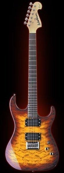 ☆ 唐尼樂器︵☆美國大廠 WASHBURN X12 超美夕陽漸層虎紋重搖滾火力電吉他(特價中)