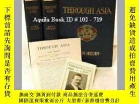 二手書博民逛書店【罕見】《through asia》通過亞洲 全兩卷 頂口鍍金1