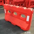 三孔水馬滾塑水馬市政注水圍欄高速小隔離墩注水圍擋塑料防撞桶 3CHM