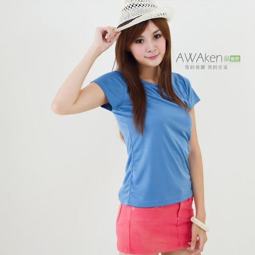 CoolMax 吸濕排汗衣 真機能吸排 仕女空藍T 涼感舒適新體驗