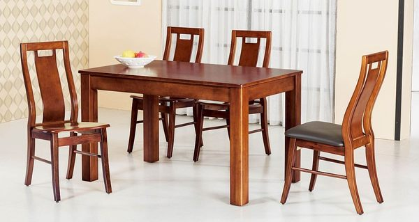 【南洋風傢俱】設計單桌系列-柚木色實木長方西餐桌 SB347-1