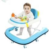 嬰兒童U型學步車多功能防側翻手推可坐行摺疊