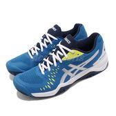 Asics 網球鞋 Gel-Challenger 12 藍 銀 黃 亞瑟膠 男鞋【PUMP306】 1041A045400