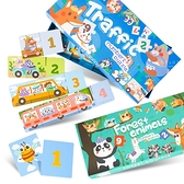 歡樂動物交通長條型認知拼圖65PCS 拼圖 兒童玩具