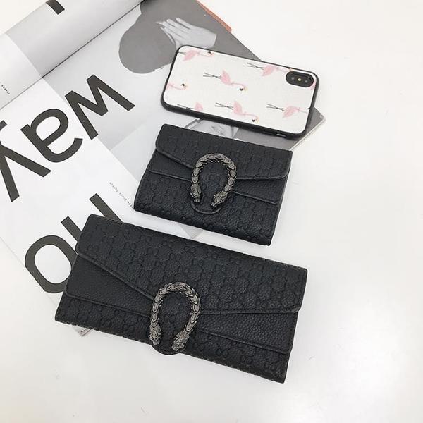 短款錢包女2020新款韓版超薄摺疊小錢夾復古時尚多卡位長款手拿包 黛尼時尚精品