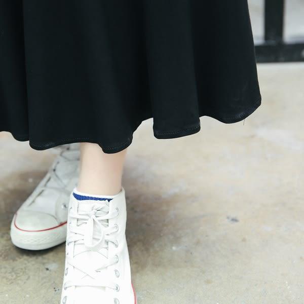 【GZ L2】長洋裝 韓版寬鬆百搭V領素面休閒魚尾裙 莫代爾棉連身長裙 洋裝
