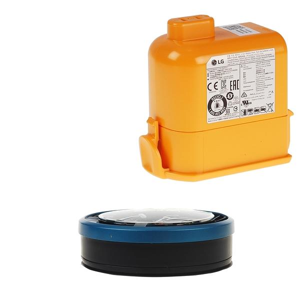 【LG耗材】A9K電池+藍色HEPA濾網 優惠組合