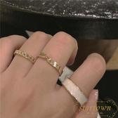 【3只裝】戒指女時尚簡約指環組合情侶食指戒【繁星小鎮】