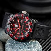 LUMINOX 雷明時 3065 經典海豹部隊傳奇腕錶/紅 44mm 熱賣中!