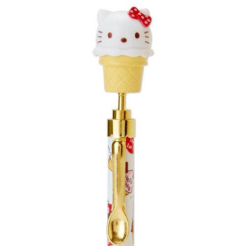 【震撼精品百貨】Hello Kitty 凱蒂貓~裝扮甜點黑色原子筆(甜筒)