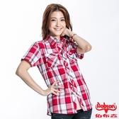 BOBSON 女款格紋短袖襯衫(23132-13)