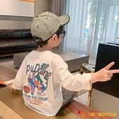 兒童長袖T恤春秋寶寶韓版打底衫男童洋氣嘻哈上衣潮童裝【小獅子】