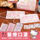 【Sanrio三麗鷗】HELLO KITTY凱蒂貓 成人 醫療口罩 正版授權(30入/盒)