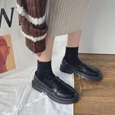 JK鞋 黑色JK鞋日系女jk學生英倫風復古一腳蹬韓版chic百搭潮 夏季上新