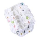 嬰兒圍嘴純棉紗布口水兜圓形寶寶口水巾新生兒圍兜360度旋轉 3條 滿天星