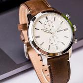 FOSSIL 俐落雙眼簡約腕錶 FS5350 熱賣中!