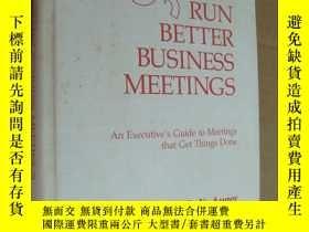二手書博民逛書店HOW罕見TO RUN BETTER BUSINESS MEET
