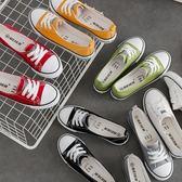 小白鞋夏季女新款百搭正韓淺口帆布鞋一腳蹬護士鞋學生懶人鞋三角衣櫥