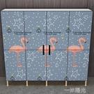衣櫃簡易布衣櫃網紅實木組裝出租房加粗單雙人收納布藝掛衣櫥 WD 一米陽光
