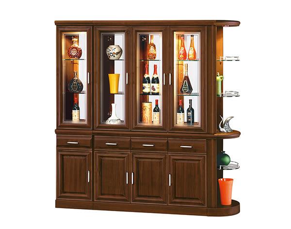 【南洋風休閒傢俱】組合櫃組系列 -實木玄關櫃  收納 紅酒展示櫃 胡桃 福錦5尺雙面櫃組(JH544-5)