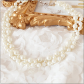 L003-S 仿珍珠鏤空編織項鍊~美之札