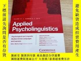 二手書博民逛書店《Applied罕見Psycholinguistics》Y163