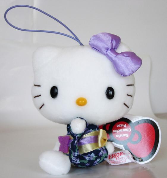 【卡漫城】 Hello Kitty 玩偶 和服 13cm 二款選一 ㊣版 絨毛娃娃 吊飾 擺飾 收藏收集 凱蒂貓 布偶