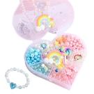 DIY手作玩具 兒童串珠 項鍊 手環益智玩具 公主配件盒-JoyBaby