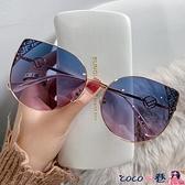 墨鏡 2021新款韓版個性女士太陽鏡明星款ins時尚眼鏡防紫外線偏光墨鏡 coco