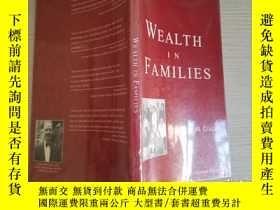 二手書博民逛書店COLLIER罕見WEALTH IN FAMILIES【實物拍圖