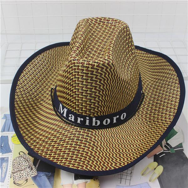 遮陽帽 騎車男士牛仔帽度假夏沙灘大沿帽子女太陽防曬帽子 快速出貨