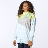 New Balance 女裝 外套 慢跑 拼接 排汗 LOGO 黃 灰 藍【運動世界】WJ11150WJ