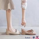 熱賣低跟鞋 平底單鞋女2021夏季新款淺口春款配裙子仙女鞋溫柔低跟軟底奶奶鞋 coco