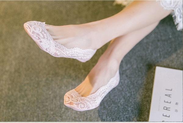 【H00873】蕾絲船型襪 防滑膠防掉跟 夏季薄款 無痕淺口隱形韓版