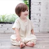 嬰兒睡袋夏季薄款短袖寶寶分腿睡袋純棉新生兒童防踢被 qz6584【野之旅】