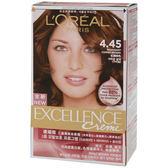 Loreal巴黎萊雅優媚霜三重護髮染髮劑#4.45【康是美】