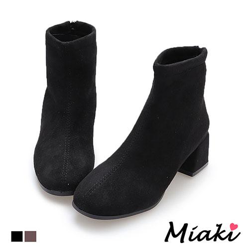 靴子-韓流穿搭中跟短靴