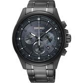 台灣限定 SEIKO精工 Criteria 太陽能計時手錶-灰42mm V175-0ER0K(SSC693P1)