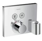 【麗室衛浴】德國HANSGROHE ShowerSelect  系列15765  高流量定溫 二路開關面板